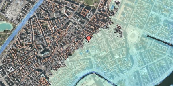 Stomflod og havvand på Købmagergade 26, 1150 København K
