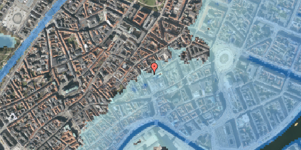 Stomflod og havvand på Silkegade 3, 2. , 1113 København K