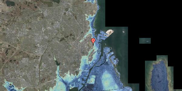 Stomflod og havvand på Øster Allé 44, 2100 København Ø