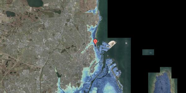 Stomflod og havvand på Ryvangs Allé 4B, 2100 København Ø
