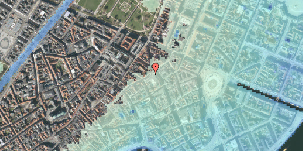 Stomflod og havvand på Sværtegade 10, 4. , 1118 København K