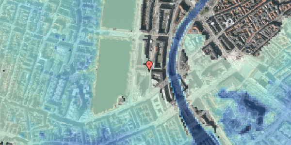 Stomflod og havvand på Nyropsgade 42, 16. , 1602 København V