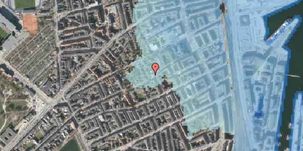 Stomflod og havvand på Rosenvængets Allé 44B, 2100 København Ø