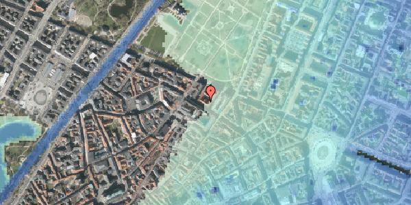 Stomflod og havvand på Vognmagergade 8, 1120 København K
