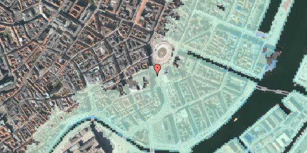 Stomflod og havvand på Kongens Nytorv 11, 1050 København K