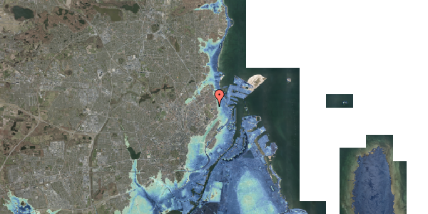 Stomflod og havvand på Østerfælled Torv 7, 2100 København Ø