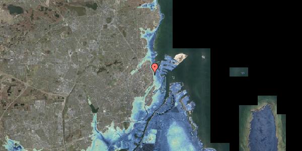Stomflod og havvand på Østerfælled Torv 25, 2100 København Ø