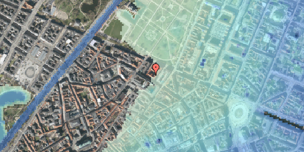Stomflod og havvand på Vognmagergade 8, 2. , 1120 København K