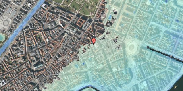 Stomflod og havvand på Pilestræde 34, 1112 København K