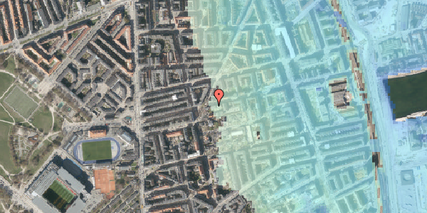 Stomflod og havvand på Viborggade 42, 1. tv, 2100 København Ø
