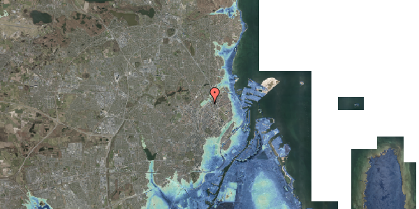 Stomflod og havvand på Emblasgade 31, 1. tv, 2100 København Ø