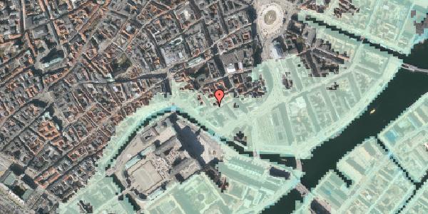 Stomflod og havvand på Admiralgade 25, 2. , 1066 København K