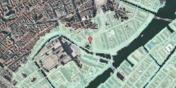 Stomflod og havvand på Holmens Kanal 21, 1060 København K
