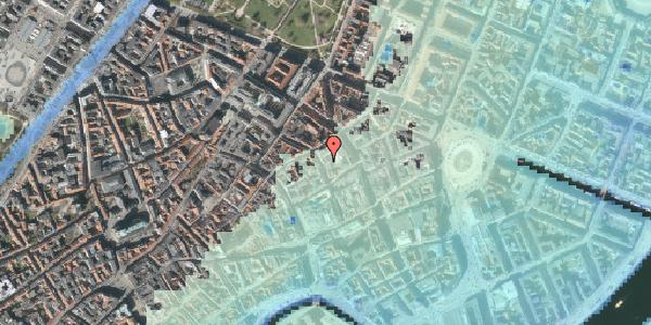 Stomflod og havvand på Pilestræde 32A, 1112 København K