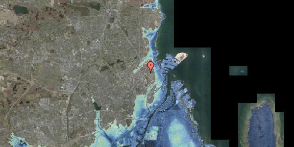 Stomflod og havvand på Jagtvej 186, 2100 København Ø