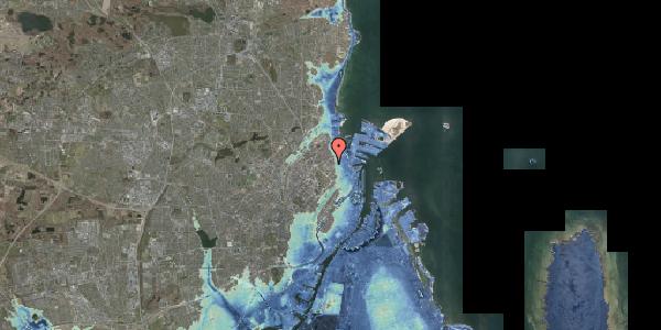 Stomflod og havvand på Østerfælled Torv 34, 2100 København Ø