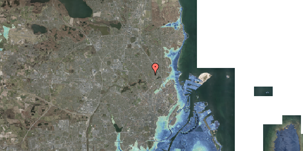 Stomflod og havvand på Rødhalsgangen 29, 2400 København NV