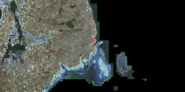 Stomflod og havvand på Lyngbyvej 24, 2100 København Ø