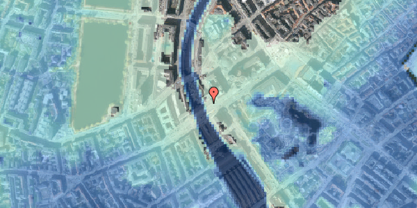 Stomflod og havvand på Vesterbrogade 6A, 18. , 1620 København V