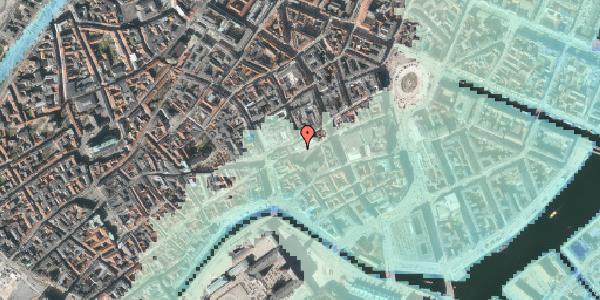 Stomflod og havvand på Nikolaj Plads 8, st. , 1067 København K