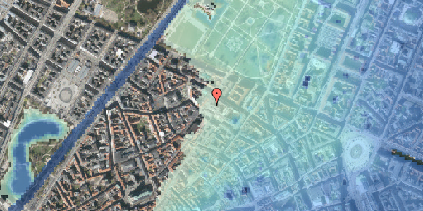 Stomflod og havvand på Landemærket 10, 1. , 1119 København K