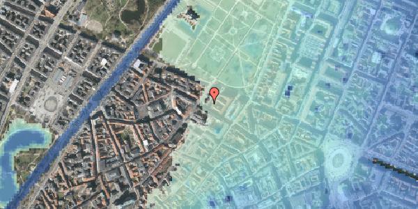 Stomflod og havvand på Vognmagergade 8B, 1. tv, 1120 København K