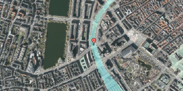 Stomflod og havvand på Ved Vesterport 2, 1612 København V