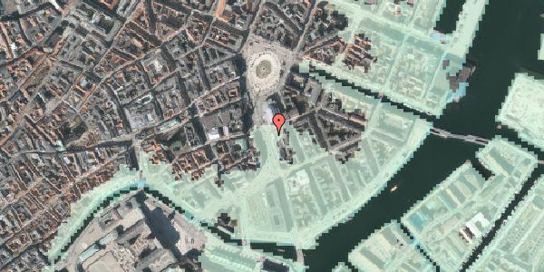 Stomflod og havvand på Holmens Kanal 3, 1060 København K