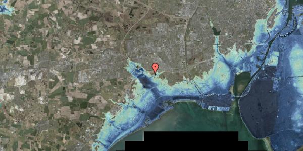 Stomflod og havvand på Kirkebakke Alle 6, 2625 Vallensbæk