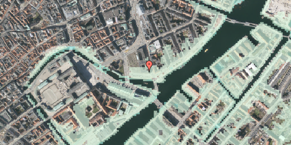 Stomflod og havvand på Havnegade 5, 4. , 1058 København K