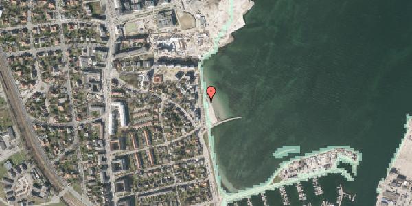 Stomflod og havvand på Strandpromenaden 36, 2100 København Ø