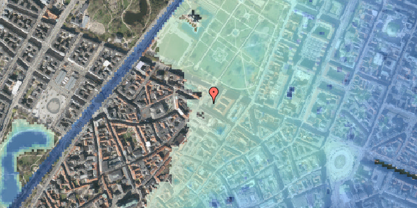 Stomflod og havvand på Vognmagergade 10, 3. tv, 1120 København K