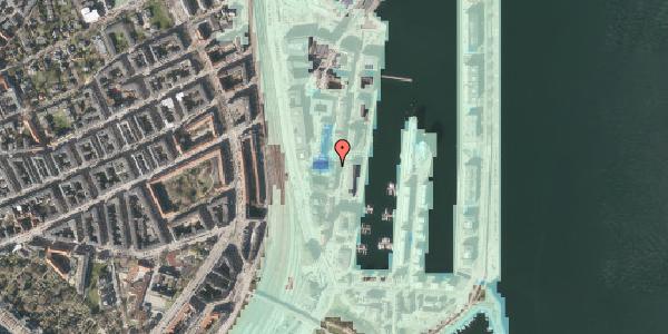 Stomflod og havvand på Amerika Plads 1, 4. , 2100 København Ø