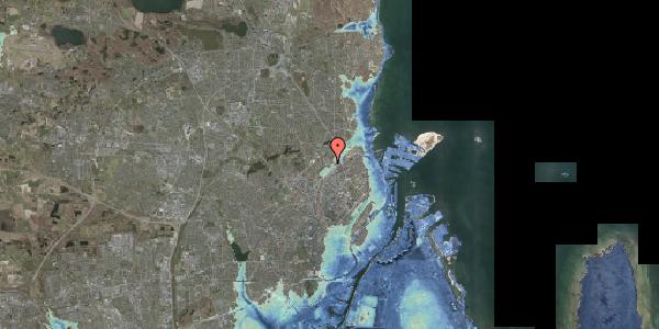 Stomflod og havvand på Lersø Parkallé 93, 2100 København Ø