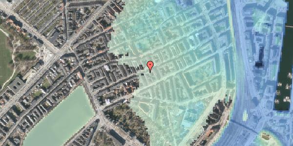 Stomflod og havvand på Willemoesgade 42B, 2100 København Ø