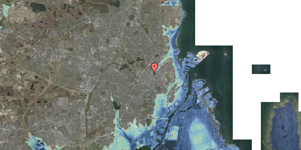 Stomflod og havvand på Bygmestervej 59, 2400 København NV