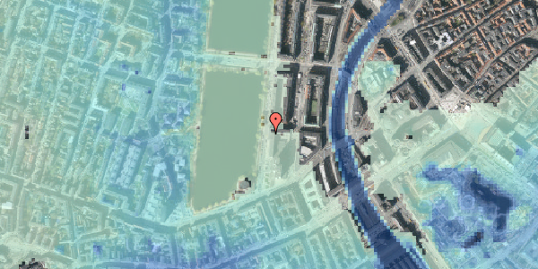 Stomflod og havvand på Vester Søgade 10, 7. , 1601 København V