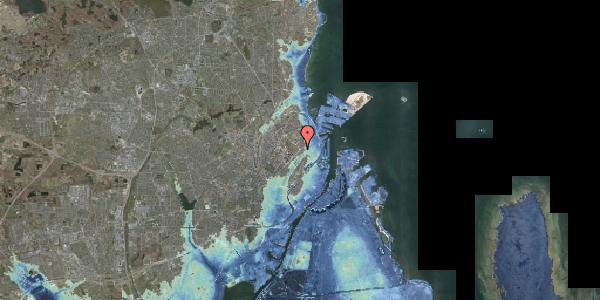 Stomflod og havvand på Blegdamsvej 35, 2100 København Ø