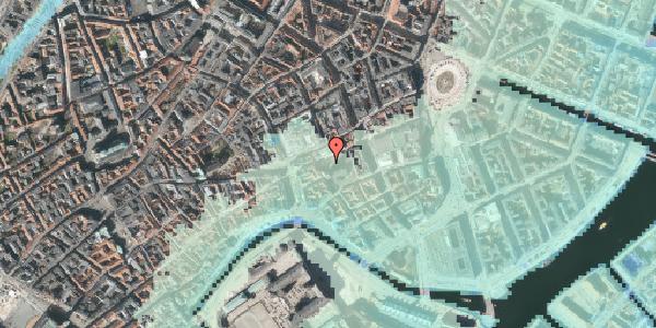 Stomflod og havvand på Nikolaj Plads 10C, 1067 København K