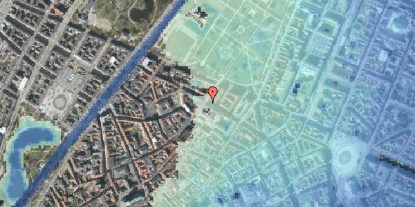 Stomflod og havvand på Vognmagergade 11, 1120 København K