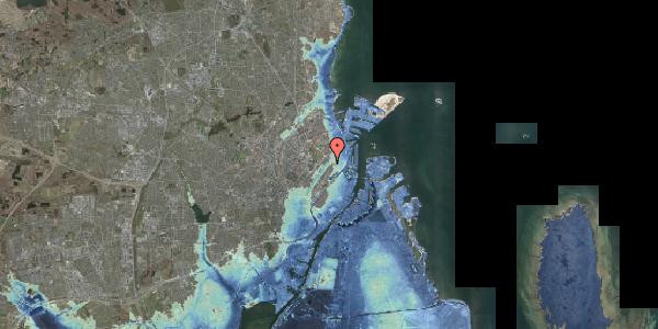 Stomflod og havvand på Øster Søgade 107, 2100 København Ø