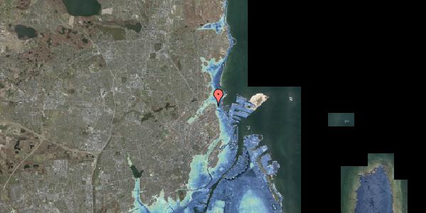 Stomflod og havvand på Svanemøllens Kaserne 116, 2100 København Ø