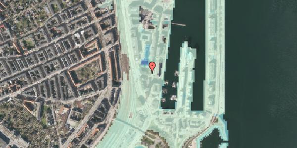 Stomflod og havvand på Amerika Plads 3D, 6. , 2100 København Ø