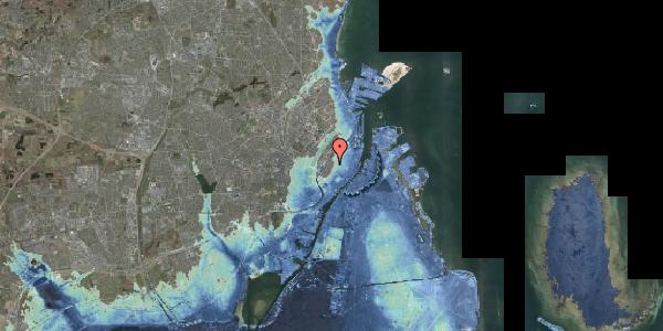 Stomflod og havvand på Købmagergade 69, 1150 København K