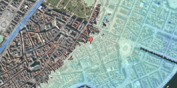 Stomflod og havvand på Sværtegade 6, 3. , 1118 København K