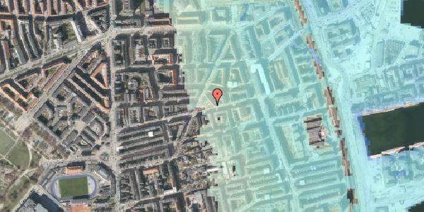 Stomflod og havvand på Århus Plads 1, 2100 København Ø