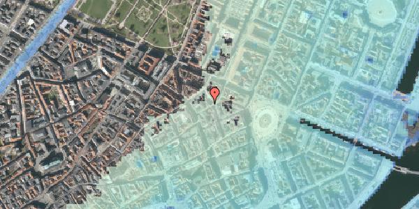 Stomflod og havvand på Ny Østergade 13, 1101 København K