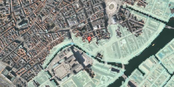 Stomflod og havvand på Admiralgade 26, 1. , 1066 København K