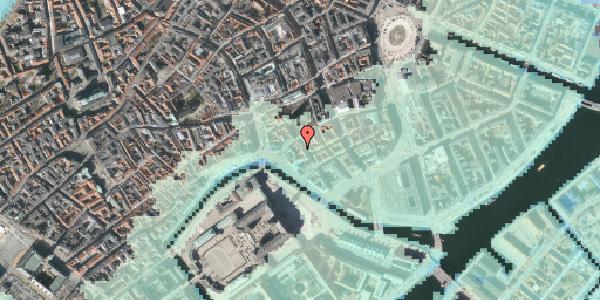 Stomflod og havvand på Admiralgade 20A, 1066 København K