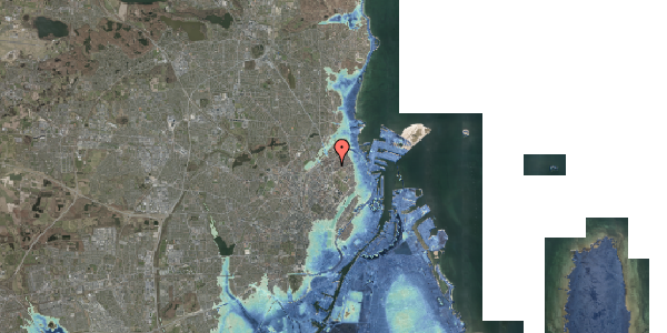 Stomflod og havvand på Lyngbyvej 28, 1. mf, 2100 København Ø